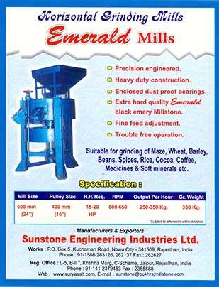 Emerald Horizontal Grinding Mills